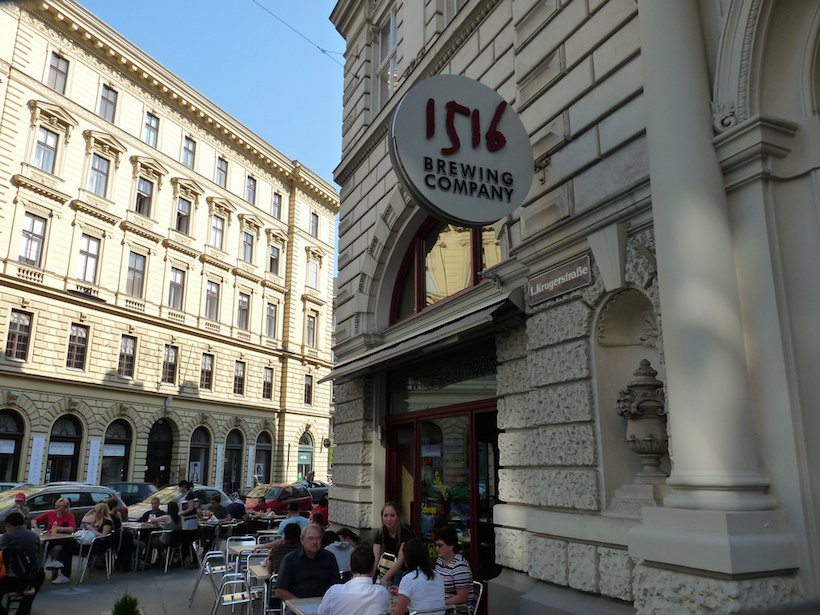 Exterior of 1516 - best brewpub in Vienna